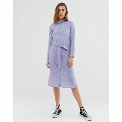 デニム ドレス レディースファッション ボトムス パンツ 【 PEPE JEANS MELANIA DENIM MAXI SHIRT DRESS 】
