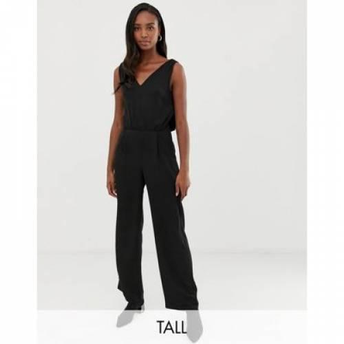 Y.A.S レディースファッション オールインワン サロペット 【 TALL V NECK JUMPSUIT 】