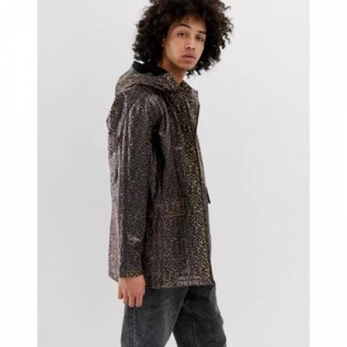 メンズファッション コート ジャケット 【 ASOS DESIGN TRANSPARENT LEOPARD PRINT ZIP THROUGH JACKET 】