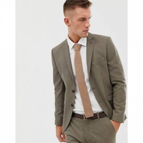 スリム メンズファッション コート ジャケット 【 SLIM SELECTED HOMME FIT DOG TOOTH SUIT JACKET 】 ※セットアップではありません