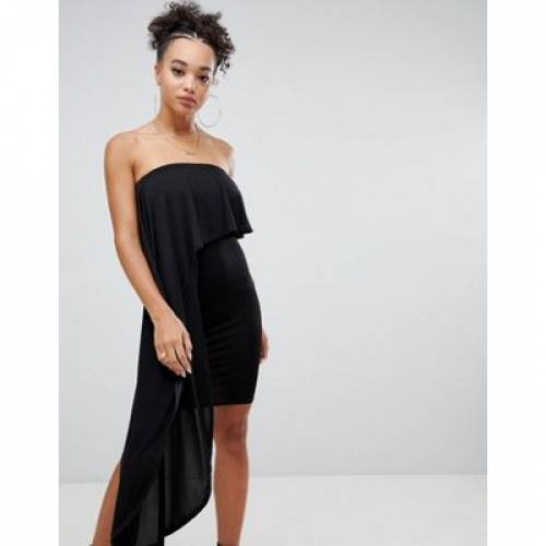 ドレス レディースファッション ワンピース 【 MISSGUIDED DRAPE PANEL DRESS 】