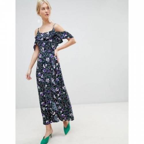 ドレス レディースファッション ワンピース 【 VERO MODA RUFFLE PRINTED MAXI DRESS 】