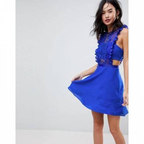 ドレス レディースファッション ワンピース 【 ASOS LACE PINAFORE MINI DRESS 】