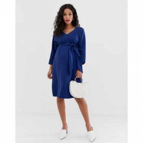 【海外限定】ドレス レディースファッション ワンピース 【 MAMALICIOUS MATERNITY TIE WAIST DRESS 】