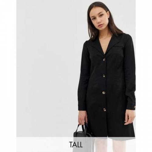 ドレス レディースファッション ワンピース 【 GLAMOROUS TALL BUTTON FRONT DRESS WITH COLLAR 】