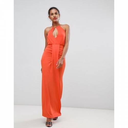 ドレス レディースファッション ワンピース 【 MISSGUIDED HALTERNECK RUCHED FRONT DRESS 】