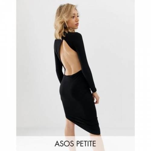 ドレス レディースファッション ワンピース 【 ASOS DESIGN PETITE EXTREME OPEN BACK MINI DRESS 】