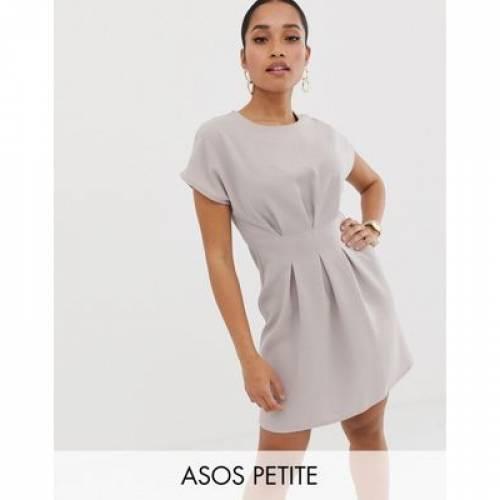 ドレス レディースファッション ワンピース 【 ASOS DESIGN PETITE NIPPED IN WAIST MINI DRESS 】