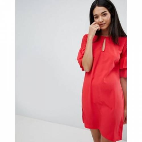 ドレス スリーブ レディースファッション ワンピース 【 SLEEVE VILA KEYHOLE DRESS WITH TIERED 】