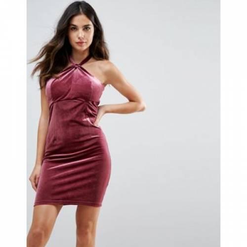 ドレス レディースファッション ワンピース 【 WYLDR ISABELLE VELVET MINI DRESS WITH TWIST FRONT DETAIL 】