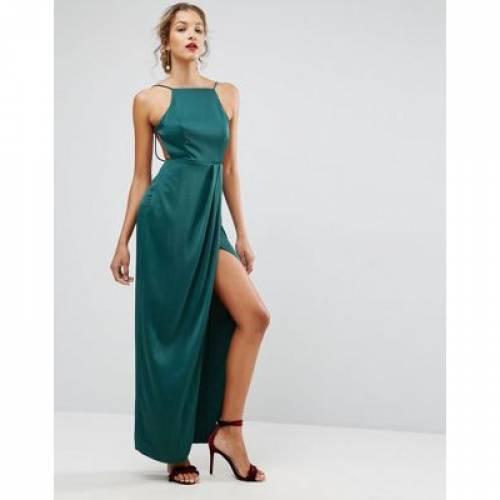 ドレス レディースファッション ワンピース 【 ASOS DRAPE FRONT DELICATE BACK MAXI DRESS 】