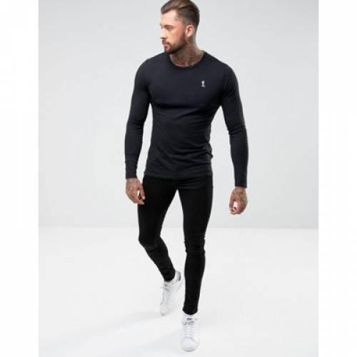 【海外限定】スリーブ ロゴ Tシャツ 黒 ブラック メンズファッション トップス カットソー 【 SLEEVE BLACK RELIGION LONG LOGO TSHIRT IN 】