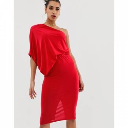 【海外限定】ドレス レディースファッション ワンピース 【 ASOS DESIGN ONE SHOULDER DRAPE PENCIL DRESS 】