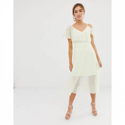 ドレス レディースファッション ワンピース 【 COAST JENNA COLD SHOULDER MIDI DRESS 】