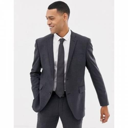 スリム GRAY灰色 グレイ メンズファッション コート ジャケット 【 SLIM GREY ESPRIT FIT COMMUTER SUIT JACKET IN CHECK 】 ※セットアップではありません