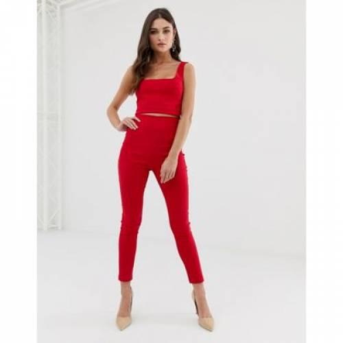 赤 レッド レディースファッション ボトムス パンツ 【 RED VESPER TAILORED TROUSERS COORD IN 】