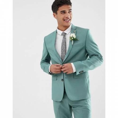 緑 グリーン メンズファッション コート ジャケット 【 GREEN FARAH HENDERSON SKINNY FIT SUIT JACKET IN 】 ※セットアップではありません