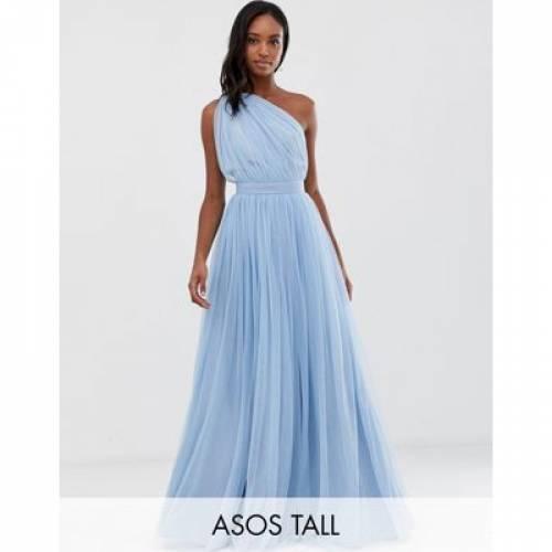 ドレス レディースファッション ワンピース 【 ASOS DESIGN TALL ONE SHOULDER TULLE MAXI DRESS 】