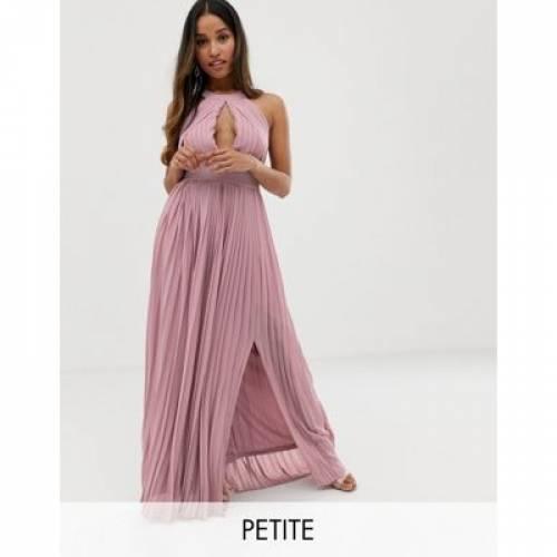 ドレス ピンク レディースファッション ワンピース 【 PINK TFNC PETITE BRIDESMAID EXCLUSIVE PLEATED MAXI DRESS IN 】