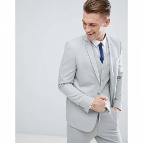 スリム GRAY灰色 グレイ メンズファッション スーツ セットアップ 【 SLIM GREY ASOS SUIT JACKET IN LIGHT 】 ※セットアップではありません