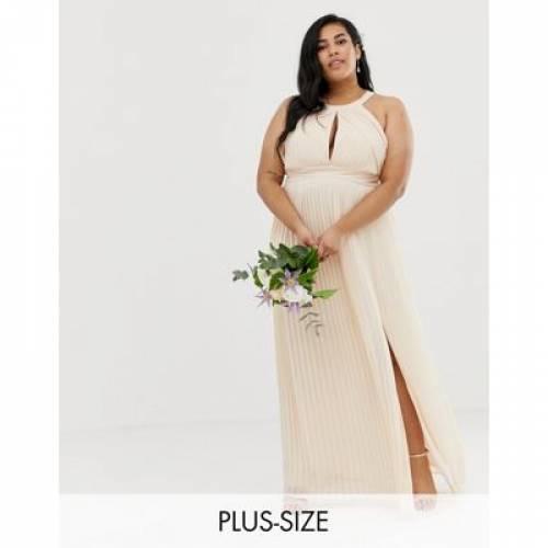 ドレス パール ピンク レディースファッション ワンピース 【 PINK TFNC PLUS BRIDESMAID EXCLUSIVE PLEATED MAXI DRESS IN PEARL 】