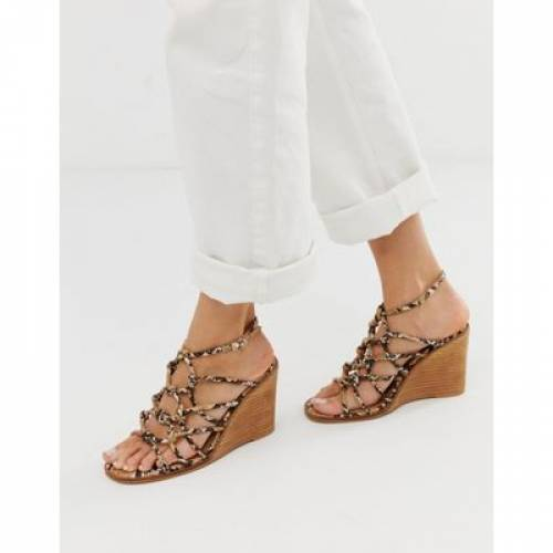 【 ASOS DESIGN ZOE WEDGE SANDALS 】