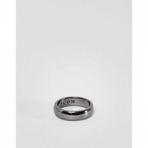 アイコン ジュエリー アクセサリー メンズジュエリー 指輪 【 ICON BRAND BAND RING IN GUNMETAL 】