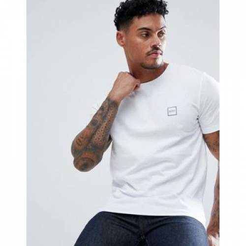 ボックス ロゴ Tシャツ 白 ホワイト メンズファッション トップス カットソー 【 WHITE BOSS TALES BOX LOGO TSHIRT IN 】
