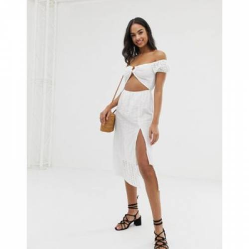ユニオン ドレス 白 ホワイト レディースファッション ワンピース 【 UNION WHITE FASHION PAELLA COLD SHOULDER BEACH DRESS IN 】