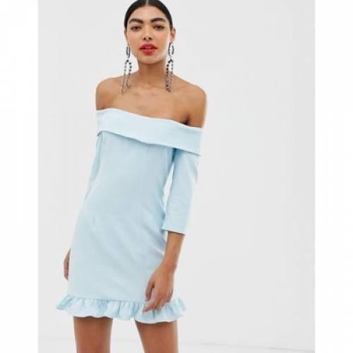 ドレス レディースファッション ワンピース 【 UNIQUE21 OFF THE SHOULDER TAILORED DRESS 】