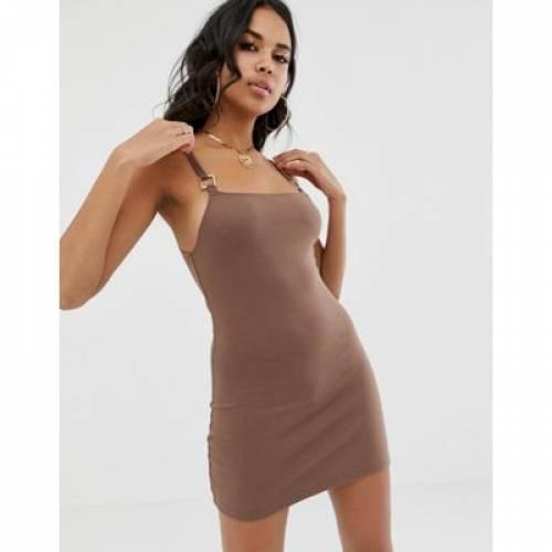 ドレス レディースファッション ワンピース 【 MOTEL MINI DRESS WITH SQUARE NECK 】