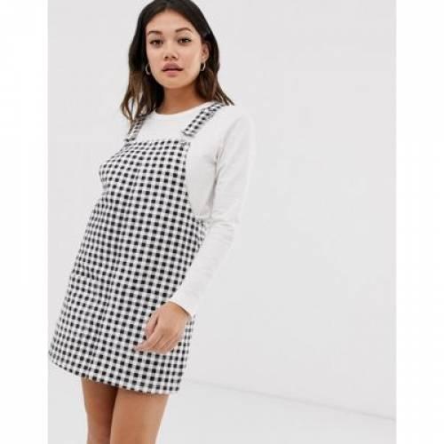 ドレス レディースファッション ワンピース 【 MISS SELFRIDGE PINAFORE DRESS IN GINGHAM 】