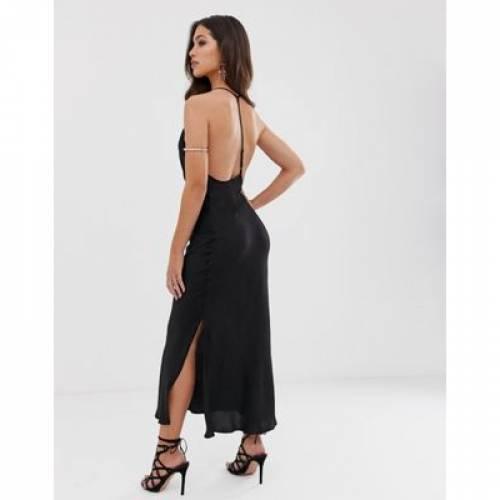 ドレス レディースファッション ワンピース 【 ASOS DESIGN CAMI SLIP MAXI DRESS WITH TBAR DETAIL 】