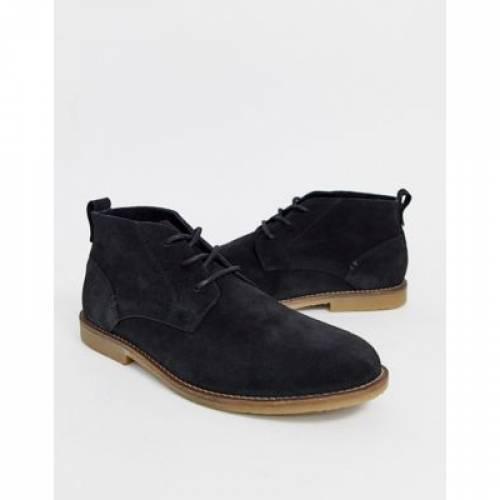 スエード スウェード 黒 ブラック メンズ ブーツ 【 BLACK RIVER ISLAND SUEDE DESERT BOOTS IN 】