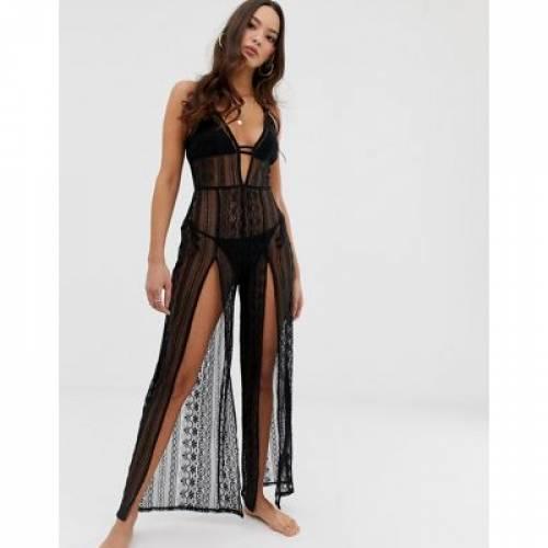 ドレス 黒 ブラック レディースファッション ボトムス スカート 【 BLACK MISS SELFRIDGE SPLIT SKIRT DRESS IN 】