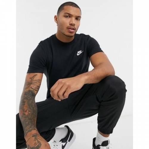 クラブ Tシャツ 黒 ブラック メンズファッション トップス カットソー 【 BLACK NIKE CLUB FUTURA TSHIRT IN 】