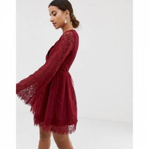 ラップ ドレス & レディースファッション ワンピース 【 WRAP DOLLY DELICIOUS LONG SLEEVED FRONT DRESS 】