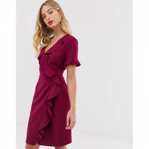ドレス レディースファッション ワンピース 【 FRENCH CONNECTION ALIANOR FRILL FRONT PENCIL DRESS 】