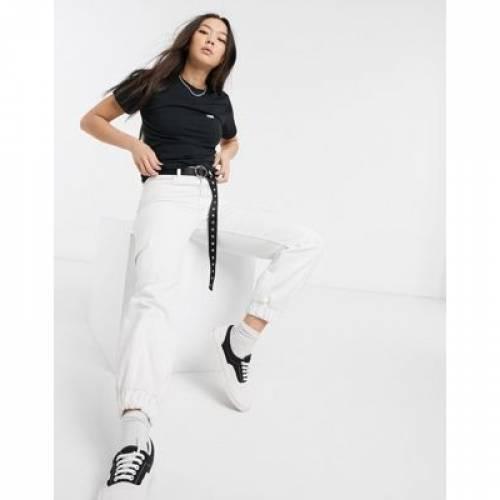 バンズ 黒 ブラック ロゴ Tシャツ レディースファッション トップス カットソー 【 VANS BLACK SMALL LOGO TSHIRT 】