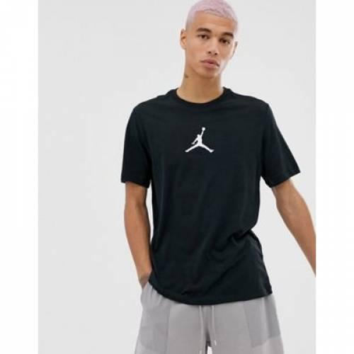 ジャンプマン Tシャツ 黒 ブラック メンズファッション トップス カットソー 【 BLACK NIKE JORDAN JUMPMAN TSHIRT IN 】