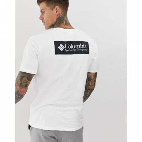 ノース Tシャツ 白 ホワイト メンズファッション トップス カットソー 【 WHITE COLUMBIA NORTH CASCADES BACK PRINT TSHIRT IN 】