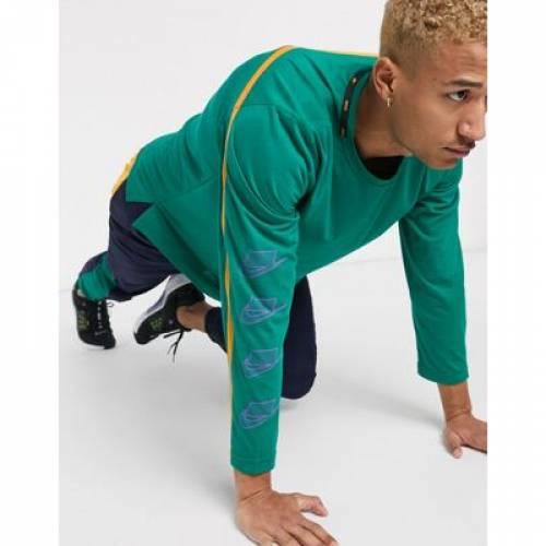 トレーニング スリーブ 緑 グリーン メンズファッション トップス Tシャツ カットソー 【 SLEEVE GREEN NIKE TRAINING SPORT PACK LONG TOP IN 】