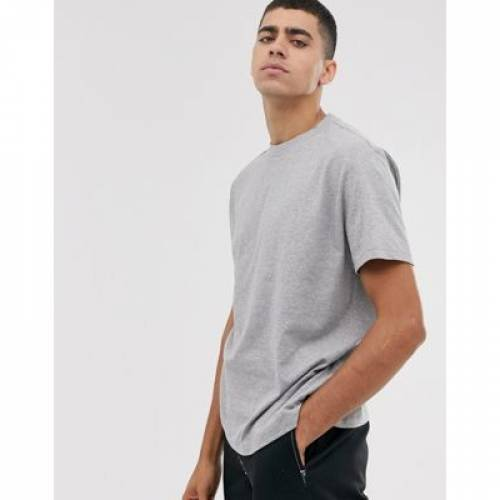 Tシャツ 灰色 グレ メンズファッション トップス カットソー 【 ASOS DESIGN RELAXED TSHIRT WITH CREW NECK IN GREY MARL 】