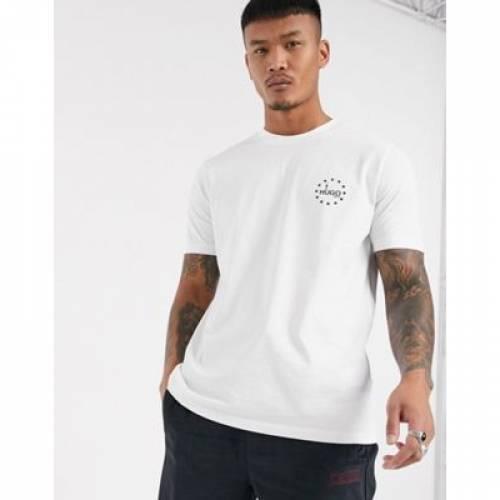 【スーパーセール中! 6/11深夜2時迄】ロゴ Tシャツ 白 ホワイト メンズファッション トップス カットソー 【 WHITE HUGO DAUBER SMALL CHEST LOGO TSHIRT IN 】