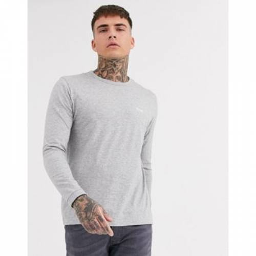 【スーパーセール中! 6/11深夜2時迄】スリーブ Tシャツ GRAY灰色 グレイ メンズファッション トップス カットソー 【 SLEEVE GREY BOSS ATHLEISURE TOGEN LONG TSHIRT IN 】