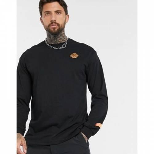 スリーブ Tシャツ 黒 ブラック メンズファッション トップス カットソー 【 SLEEVE BLACK BERSHKA LOOSE LONG TSHIRT WITH BACK PRINT IN 】