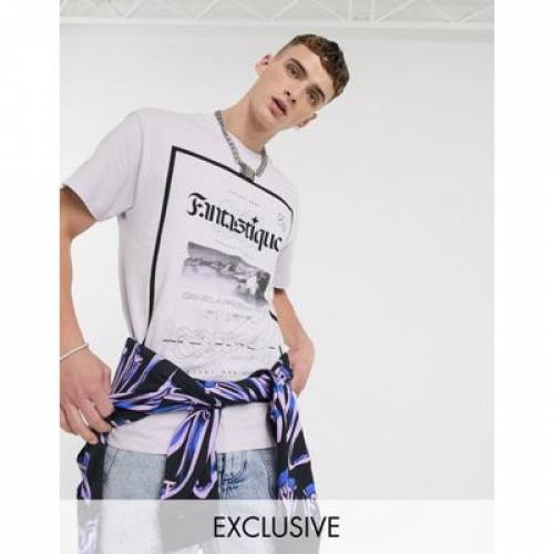 Tシャツ メンズファッション トップス カットソー 【 CROOKED TONGUES OVERSIZED TSHIRT WITH FANTASIA FRONT PRINT 】