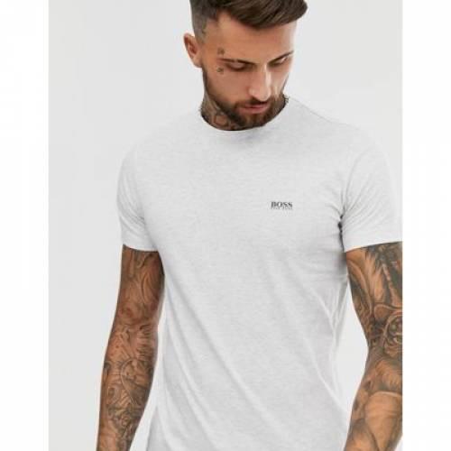 ロゴ Tシャツ GRAY灰色 グレイ メンズファッション トップス カットソー 【 GREY BOSS ATHLEISURE FRONT AND BACK LOGO TSHIRT IN MARL 】
