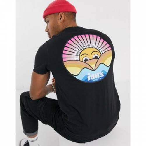 グラフィック Tシャツ メンズファッション トップス カットソー 【 FRIEND OR FAUX BEACH BACK PRINT GRAPHIC TSHIRT 】