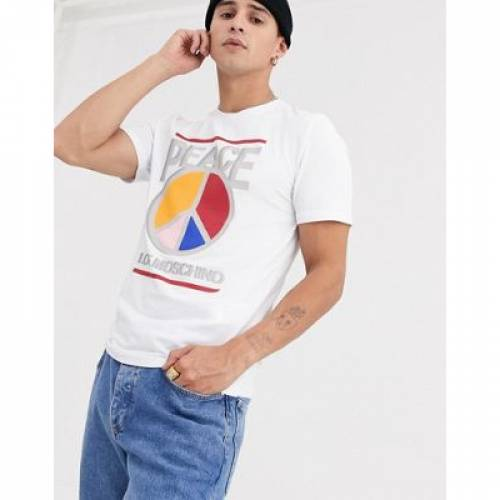 Tシャツ メンズファッション トップス カットソー 【 LOVE MOSCHINO PEACE TSHIRT 】
